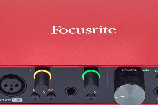 Tarjeta de sonido Focusrite Scarlett 2i2 3a generación de la mejor interface de audio